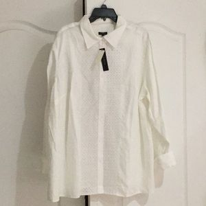 Talbots 2x 💯linen blouse tunic style NWT